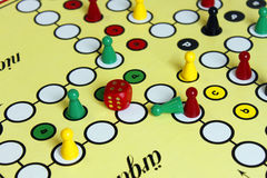 Game play figure boardgame luck angry Royalty Free Stock Image