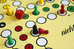Game play figure boardgame luck angry Royalty Free Stock Photo