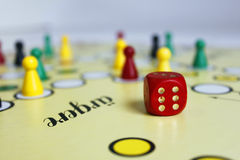 Game play figure boardgame luck angry Royalty Free Stock Photos