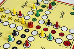 Game play figure boardgame luck angry Royalty Free Stock Photography