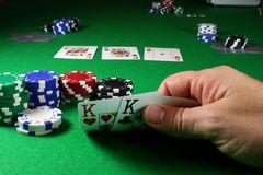 The Game - Pocket Kings deep DOF. Showing the flop of 2 Kings clearly Royalty Free Stock Image