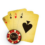 Game of poker isolated Stock Photos