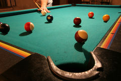 Game of Pool stock images