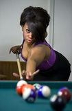 Game of pool Stock Photography