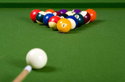 A game of Pool or billiards royalty free stock photos