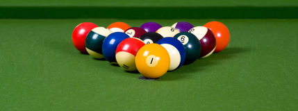 A game of Pool or billiards Royalty Free Stock Image
