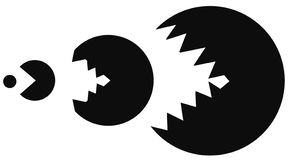 Game Predator Stencil. Black, vector illustration, horizontal, isolated stock illustration