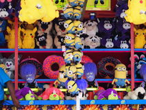Game Prizes At Game Booth Royalty Free Stock Images