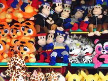 Game Prizes At Game Booth Royalty Free Stock Photos