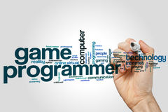 Game programmer word cloud. Concept Royalty Free Stock Images