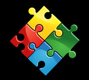 Game puzzle. Pieces of puzzle game for abstract connection or integration design Royalty Free Stock Photo