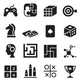 Game , puzzle, Dice, Maze, Jigsaw, joypad icons set Royalty Free Stock Photo