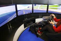 Game racing simulator Stock Photos