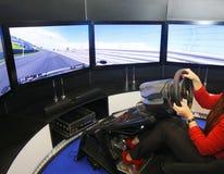 Game racing simulator Royalty Free Stock Photography