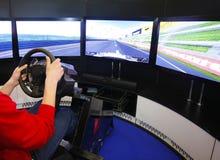Game racing simulator Royalty Free Stock Photo