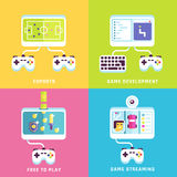 Game related concepts. Part 2 Royalty Free Stock Images