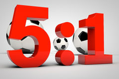 Game result - 5:1 Royalty Free Stock Images
