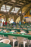 Game room of chess. Game room of the international tournament of chess of Benasque celebrated in July of 2017 in Spain. It`s an editorial image in vertical Stock Images