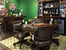 Game room furniture selling Stock Image