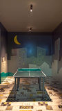 Game room. Interior of a game room with tennis table Stock Images