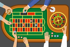 Game Of Roulette Top View Royalty Free Stock Image