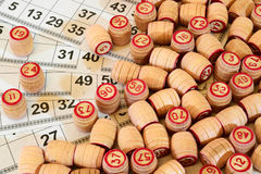 Game Russian lotto Stock Photo
