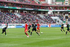 The game Russian team against Northern Ireland Royalty Free Stock Photography