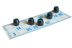 Game Russkoe Loto. The image of the game Russkoe Loto isolated on white background royalty free stock photo