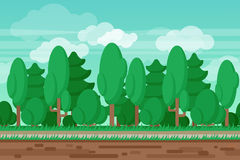 Game seamless summer landscape forest background Royalty Free Stock Image