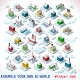 Game Set 07 Building Isometric Royalty Free Stock Photos