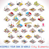 Game Set 02 Building Isometric Stock Photos