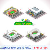 Game Set 10 Building Isometric Stock Images