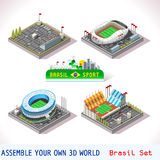 Game Set 09 Building Isometric Stock Image