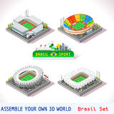 Game Set 11 Building Isometric Royalty Free Stock Photos
