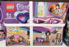 A game set for children Lego friends for sale in the Auchan shopping center on December 25, 2019 in Russia, Kazan, Hussein