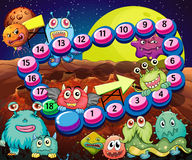 Game. Set of game elements and icons with aliens theme Stock Photos