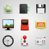 Game set icons Royalty Free Stock Photo