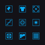 Game set vector weapon icons. Game set vector icons Royalty Free Stock Photos