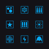 Game set weapon icons. Game set vector weapon icons Stock Photos