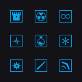 Game set weapon icons. Game set vector weapon icons Stock Images