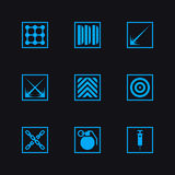 Game set weapon icons. Game set vector weapon icons Stock Photography