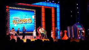 Game show aboard the Carnival Breeze. Sailing away from Miami, Florida Royalty Free Stock Image