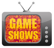 Game shows. Wasting time and watching game shows on television Royalty Free Stock Photography
