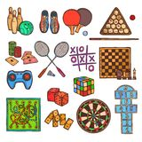Game sketch icons Stock Photo