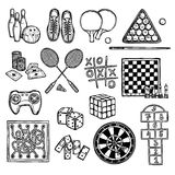 Game sketch icons Royalty Free Stock Photo