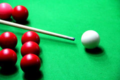 Game of Snooker. Red Snooker Balls on the Table royalty free stock images