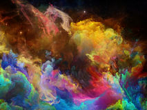 Game of Space Nebula. Nebula Surface series. Abstract design made of color clouds and fractal elements on the subject of science, technology and education stock photo