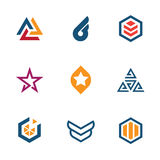 The game of star success business company logo icon set Royalty Free Stock Photo