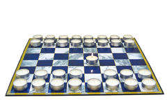 Game started first move Royalty Free Stock Photos