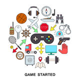 Game started vector Royalty Free Stock Images